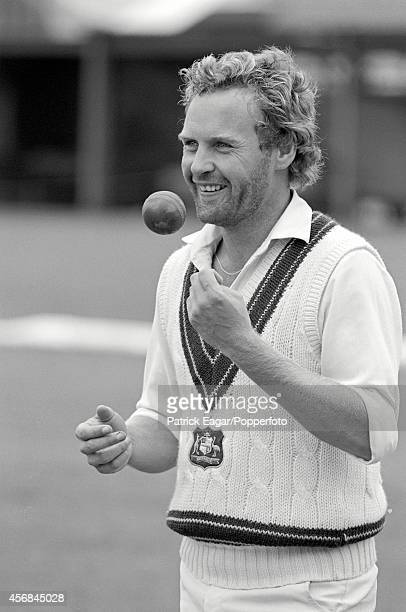 Rodney Hogg practising in the nets at Lord's at the start of the 1981 Tour