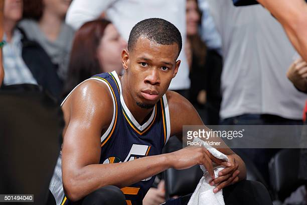 Rodney Hood of the Utah Jazz looks on during the game against the Sacramento Kings on December 8 2015 at Sleep Train Arena in Sacramento California...
