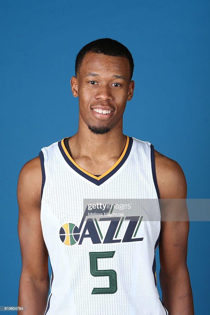 Rodney Hood #5 of the Utah Jazz poses for a headshot during 2016-2017 Utah Jazz Media Day at Zions Bank Basketball Center on September 26, 2016 in Salt Lake City, Utah.