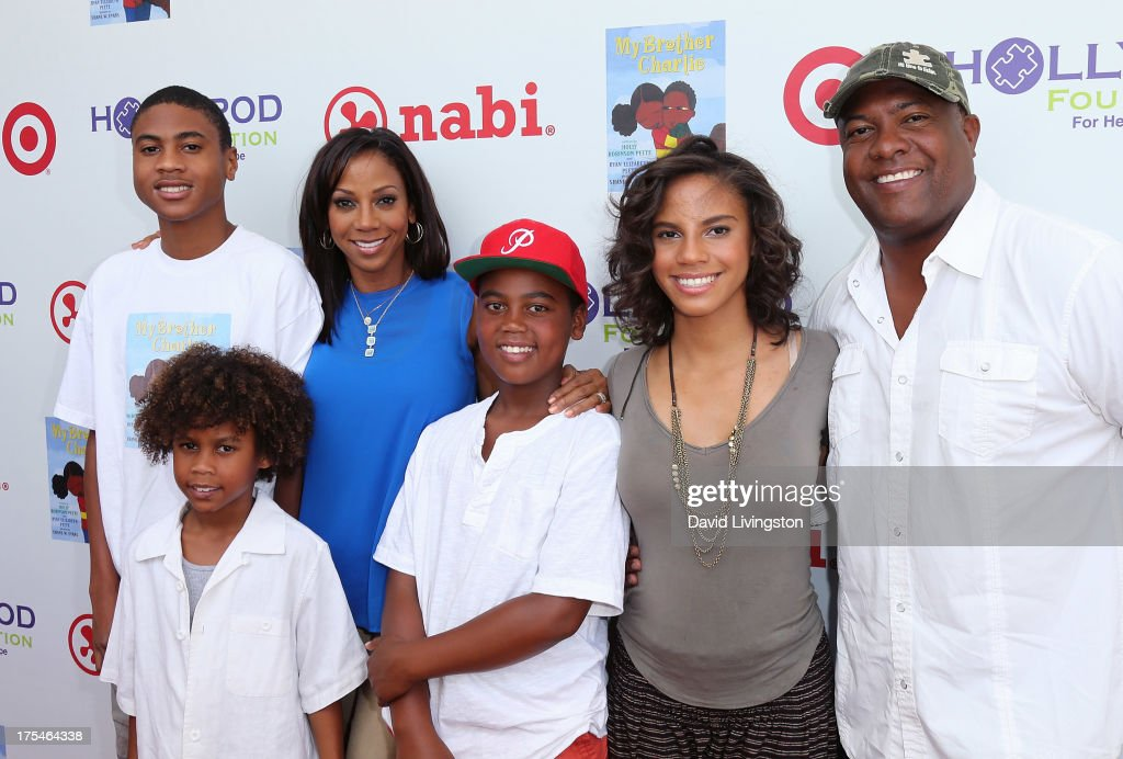 Rodney James Peete, Roman Peete, actress <a gi-track='captionPersonalityLinkClicked' href=/galleries/search?phrase=Holly+Robinson+Peete&family=editorial&specificpeople=213716 ng-click='$event.stopPropagation()'>Holly Robinson Peete</a>, Robinson James Peete, Ryan Elizabeth Peete and former NFL player <a gi-track='captionPersonalityLinkClicked' href=/galleries/search?phrase=Rodney+Peete&family=editorial&specificpeople=220342 ng-click='$event.stopPropagation()'>Rodney Peete</a> attend the HollyRod Foundation's 4th Annual My Brother Charlie Carnival at Culver Studios on August 3, 2013 in Culver City, California.