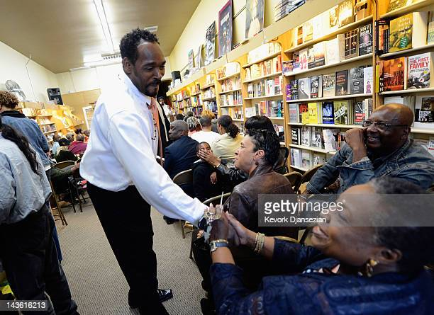Rodney King arrives at the EsoWon books store to sign copies of his new book 'The Riot Within My Journey From Rebellion to Redemption' on April 30...