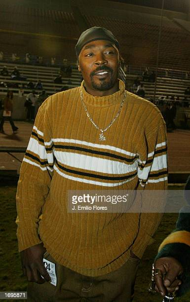 Rodney King attends the 1st Annual Snoop Bowl on December 19 2002 in Long Beach California The game is a fundraising event for local charities to...