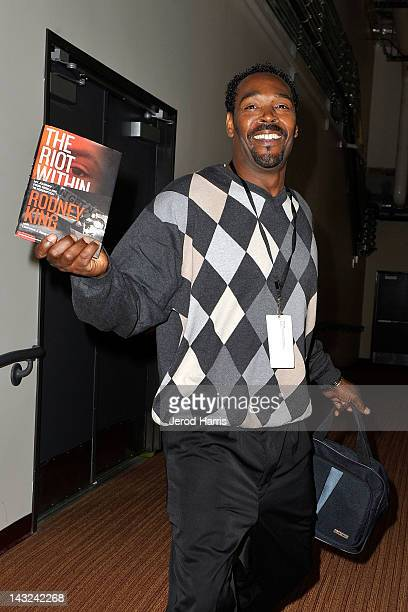 Rodney King promotes his new book 'The Riot Within' at the 17th Annual Los Angeles Times Festival Of Books Day 1 at USC on April 21 2012 in Los...