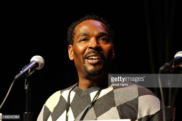 Rodney King speaks at the 17th Annual Los Angeles Times Festival Of Books Day 1 at USC on April 21 2012 in Los Angeles California