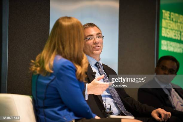 Rodney Lawrence global head of international tax services for KPMG LLP speaks during 'The Future of International Business Deals How to Position for...