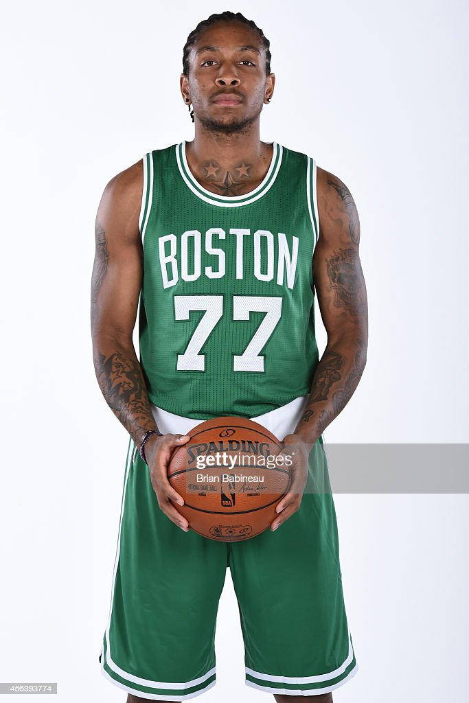 <a gi-track='captionPersonalityLinkClicked' href=/galleries/search?phrase=Rodney+McGruder&family=editorial&specificpeople=6572093 ng-click='$event.stopPropagation()'>Rodney McGruder</a> #77 of the Boston Celtics poses for a portrait on September 29, 2014 at the Boston Cetlics Training Center at Healthpoint in Waltham, Massachusetts.
