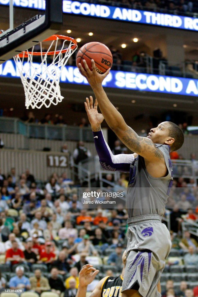 Rodney McGruder of the Kansas State Wildcats goes for a layup against the Southern Miss Golden Eagles during the second round of the 2012 NCAA Men's...
