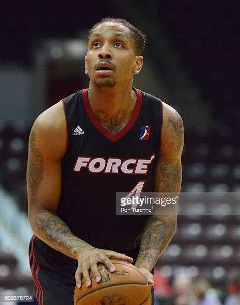 Rodney McGruder of the Sioux Falls Skyforce shoots a free throw against the Raptors 905 during the game on December 31 2015 at the Hershey Centre in...