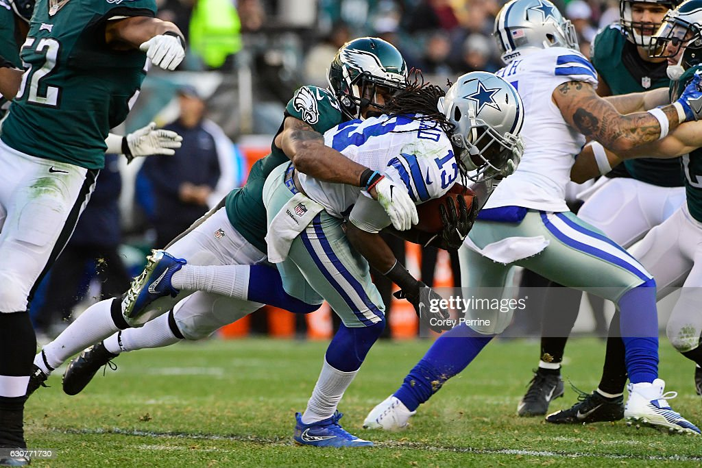 ... Rodney McLeod 23 of the Philadelphia Eagles tackles Lucky Whitehead 13  of the Dallas ... 55a227afe