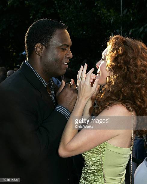 Rodney Peete and Amy Yasbeck during 6th Annual MercedesBenz DesignCure Red Carpet at Private Residence in Pacific Palisades California United States