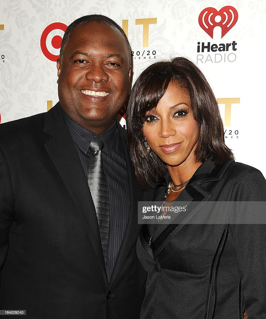Rodney Peete and Holly Robinson Peete attend the '20/20' album release party with Justin Timberlake at El Rey Theatre on March 18, 2013 in Los Angeles, California.