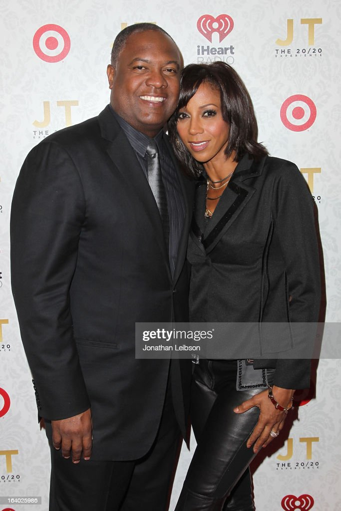 <a gi-track='captionPersonalityLinkClicked' href=/galleries/search?phrase=Rodney+Peete&family=editorial&specificpeople=220342 ng-click='$event.stopPropagation()'>Rodney Peete</a> and <a gi-track='captionPersonalityLinkClicked' href=/galleries/search?phrase=Holly+Robinson+Peete&family=editorial&specificpeople=213716 ng-click='$event.stopPropagation()'>Holly Robinson Peete</a> attend the Target Presents The iHeartRadio '20/20' Album Release Party With Justin Timberlake at El Rey Theatre on March 18, 2013 in Los Angeles, California.