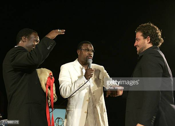 Rodney Peete Chris Tucker and Brett Ratner during 6th Annual MercedesBenz DesignCure Inside at Private Residence in Pacific Palisades California...