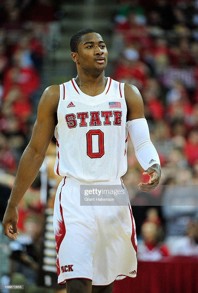 Rodney Purvis of the North Carolina State Wolfpack against the St Bonaventure Bonnies during play at PNC Arena on December 22 2012 in Raleigh North...