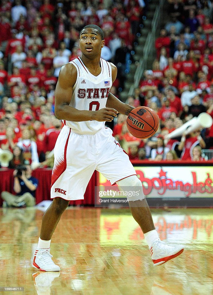 Rodney Purvis #0 of the North Carolina State Wolfpack against the Georgia Tech Yellow Jackets at PNC Arena on January 9, 2013 in Raleigh, North Carolina. North Carolina State won 83-70.
