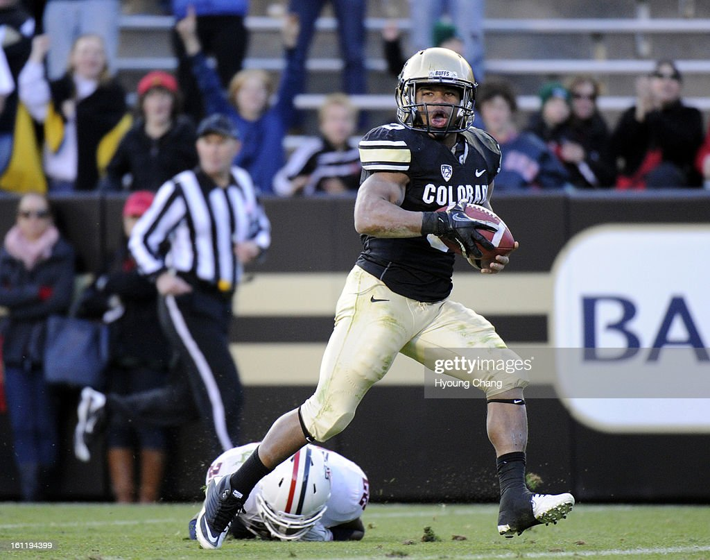 cu rb rodney stewart is rushing for his rd touchdown against rodney stewart is rushing for his 3rd touchdown against arizona in the 4th quarter of the