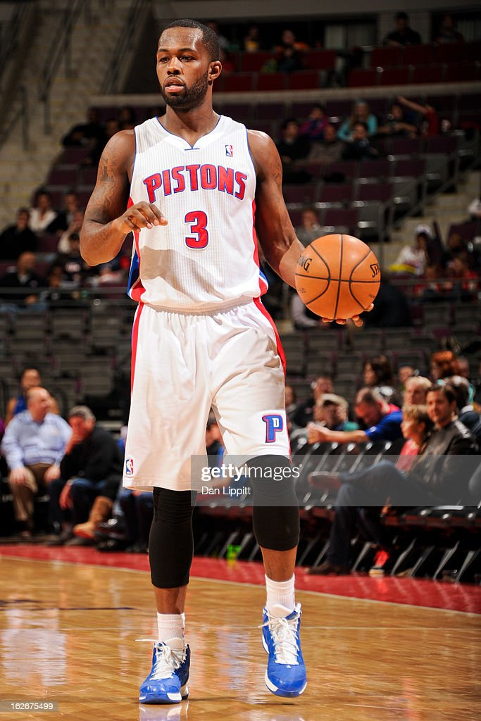 <a gi-track='captionPersonalityLinkClicked' href=/galleries/search?phrase=Rodney+Stuckey&family=editorial&specificpeople=4375687 ng-click='$event.stopPropagation()'>Rodney Stuckey</a> #3 of the Detroit Pistons controls the ball against the Atlanta Hawks on February 25, 2013 at The Palace of Auburn Hills in Auburn Hills, Michigan.