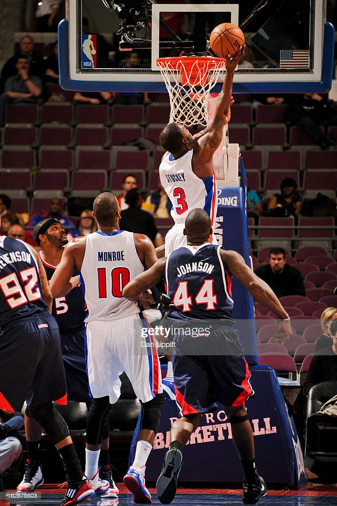 <a gi-track='captionPersonalityLinkClicked' href=/galleries/search?phrase=Rodney+Stuckey&family=editorial&specificpeople=4375687 ng-click='$event.stopPropagation()'>Rodney Stuckey</a> #3 of the Detroit Pistons drives to the basket against the Atlanta Hawks on February 25, 2013 at The Palace of Auburn Hills in Auburn Hills, Michigan.