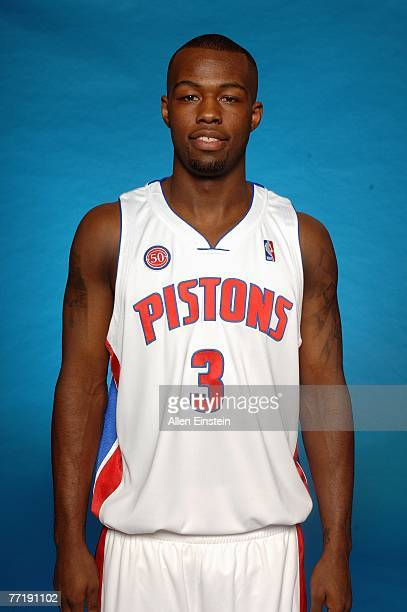 Rodney Stuckey of the Detroit Pistons poses for a portrait during NBA Media Day at the Pistons Practice Facility on October 1 2007 in Auburn Hills MI...