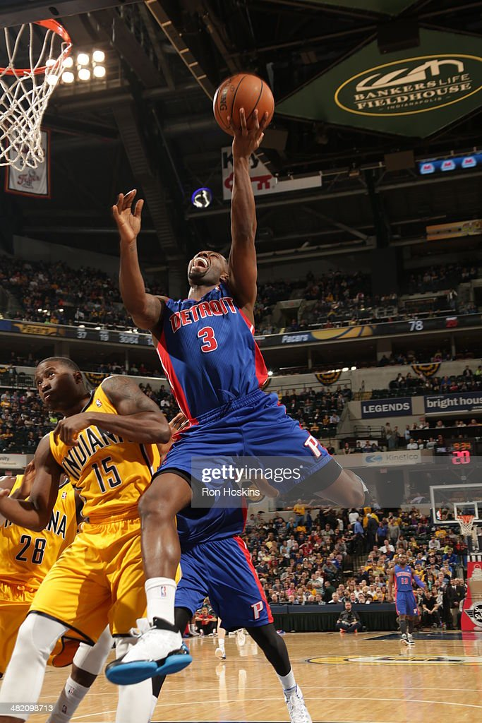 <a gi-track='captionPersonalityLinkClicked' href=/galleries/search?phrase=Rodney+Stuckey&family=editorial&specificpeople=4375687 ng-click='$event.stopPropagation()'>Rodney Stuckey</a> #3 of the Detroit Pistons shoots against the Indiana Pacers at Bankers Life Fieldhouse on April 2, 2014 in Indianapolis, Indiana.