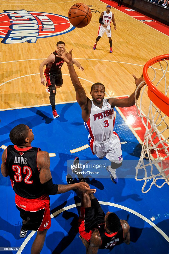 <a gi-track='captionPersonalityLinkClicked' href=/galleries/search?phrase=Rodney+Stuckey&family=editorial&specificpeople=4375687 ng-click='$event.stopPropagation()'>Rodney Stuckey</a> #3 of the Detroit Pistons shoots in the lane against the Toronto Raptors on November 23, 2012 at The Palace of Auburn Hills in Auburn Hills, Michigan.