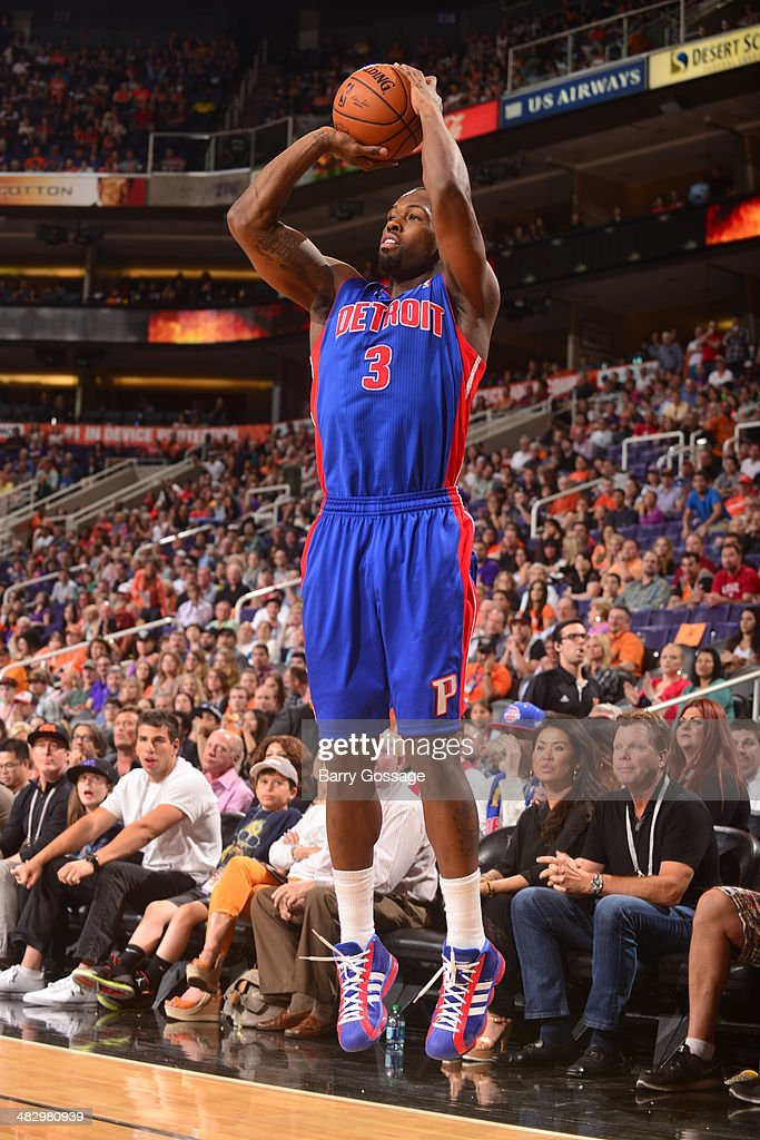 <a gi-track='captionPersonalityLinkClicked' href=/galleries/search?phrase=Rodney+Stuckey&family=editorial&specificpeople=4375687 ng-click='$event.stopPropagation()'>Rodney Stuckey</a> #3 of the Detroit Pistons takes a shot against the Phoenix Suns on March 21, 2014 at U.S. Airways Center in Phoenix, Arizona.