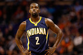 Rodney Stuckey of the Indiana Pacers during the NBA game against the Phoenix Suns at US Airways Center on December 2 2014 in Phoenix Arizona NOTE TO...