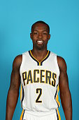 Rodney Stuckey of the Indiana Pacers during the Pacers media day at Bankers Life Fieldhouse on September 29 2014 in Indianapolis Indiana NOTE TO USER...