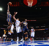 Rodney Stuckey of the Indiana Pacers goes up for the shot against the Philadelphia 76ers at Wells Fargo Center on February 20 2015 in Philadelphia...