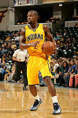 Rodney Stuckey of the Indiana Pacers handles the ball against the Atlanta Hawks on December 8 2014 at Bankers Life Fieldhouse in Indianapolis Indiana...
