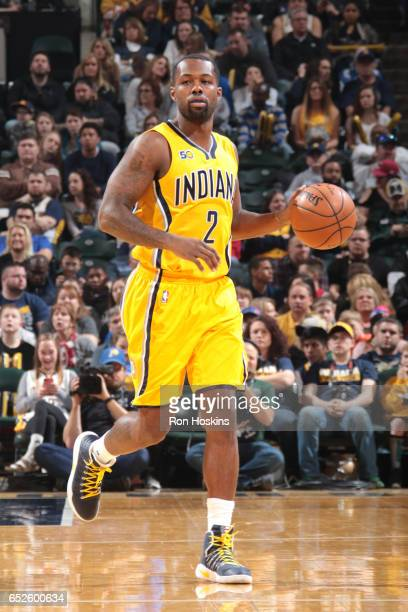 Rodney Stuckey of the Indiana Pacers handles the ball against the Miami Heat on March 12 2017 at Bankers Life Fieldhouse in Indianapolis Indiana NOTE...