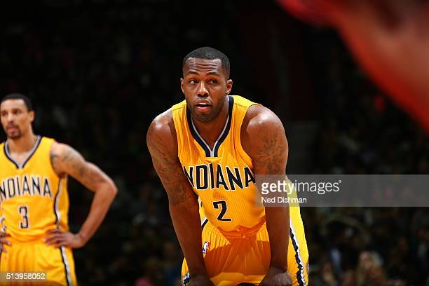 Rodney Stuckey of the Indiana Pacers is seen during the game against the Washington Wizards on March 5 2016 at Verizon Center in Washington DC NOTE...