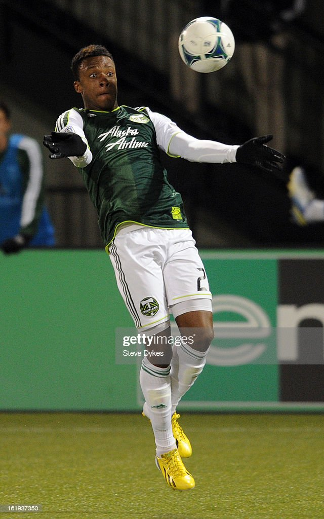 Rodney Wallace #22 of Portland Timbers controls the ball during the second half of the game against the San Jose Earthquakes at Jeld-Wen Field on February 17, 2013 in Portland, Oregon. The game ended in a 3-3 draw.Photo by Steve Dykes/Getty Images)