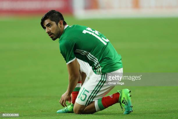 Rodofo Pizarro of Mexico looks on during the friendly match between Mexico and Ghana at NRG Stadium on June 28 2017 in Houston Texas
