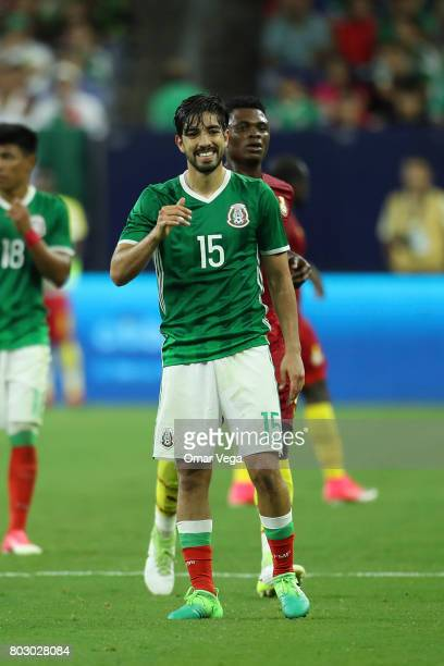Rodofo Pizarro of Mexico reacts during the friendly match between Mexico and Ghana at NRG Stadium on June 28 2017 in Houston Texas