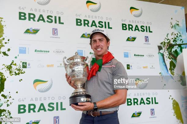 Rodolfo Cazaubon of Mexico during the final round of the PGA TOUR Latinoamerica 64 Aberto do Brasil at the Olympic Golf Course on October 15 2017 in...