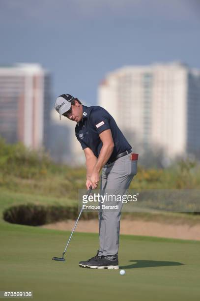 Rodolfo Cazaubon of Mexico putts on the 15th hole during the third round of the PGA TOUR Latinoamerica 64 Aberto do Brasil at the Olympic Golf Course...