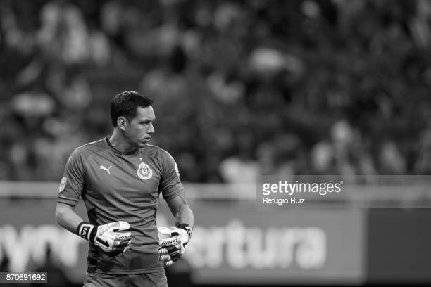 Rodolfo Cota goalkeeper of Chivas looks on during the 16th round match between Chivas and Atlas as part of the Torneo Apertura 2017 Liga MX at Chivas...