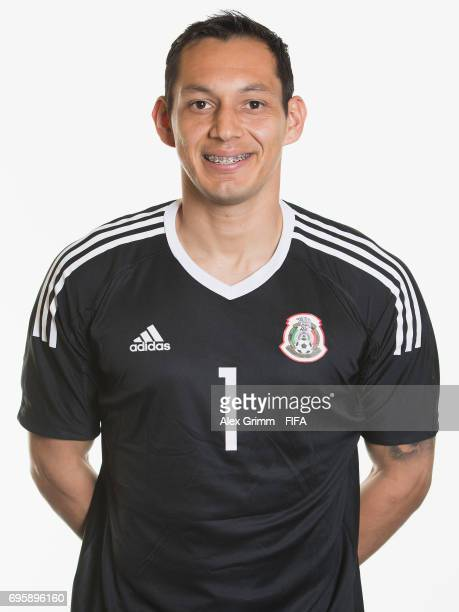 Rodolfo Cota poses for a picture during the Mexico team portrait session on June 14 2017 in Kazan Russia