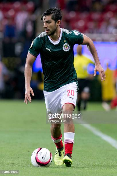 Rodolfo Pizarro of Chivas drives the ball during the 9th round match between Chivas and Pumas UNAM as part of the Torneo Apertura 2017 Liga MX at...