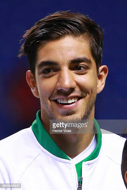 Rodolfo Pizarro of Mexico during a U23 International Friendly between Mexico and Argentina at Cuauhtemoc Stadium on July 28 2016 in Puebla Mexico