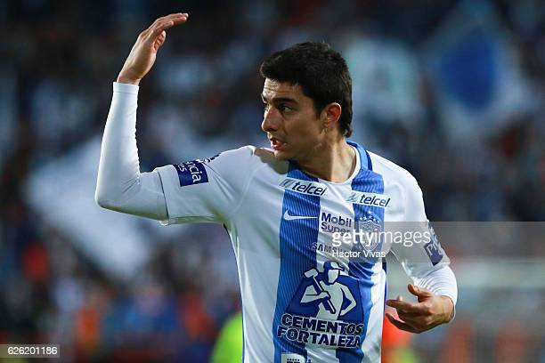 Rodolfo Pizarro of Pachuca reacts during the quarter finals second leg match between Pachuca and Necaxa as part of the Torneo Apertura 2016 Liga MX...