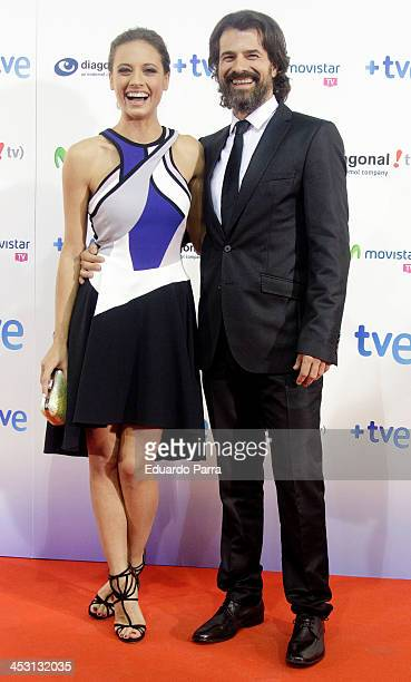 Rodolfo Sancho and Michelle Jenner attend 'Isabel' end of season 2 premiere photocall at Capitol theatre on December 2 2013 in Madrid Spain
