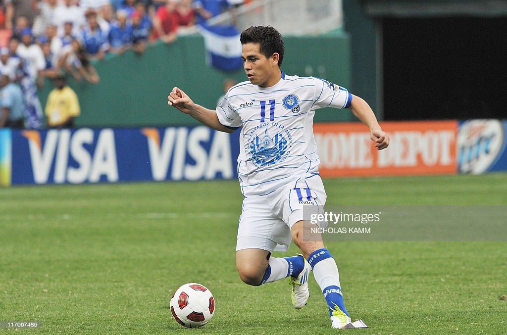 Rodolfo Zelaya controls the ball against Panama during a 2011 CONCACAF Gold Cup quarterfinal match on June 19 2011 at Robert F Kennedy Memorial...