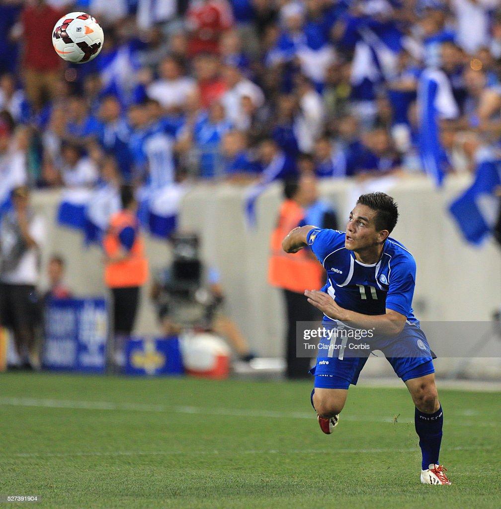 Rodolfo Zelaya El Salvador in action during the El Salvador Vs Trinidad and Tobago CONCACAF Gold Cup group B football match at Red Bull Arena...