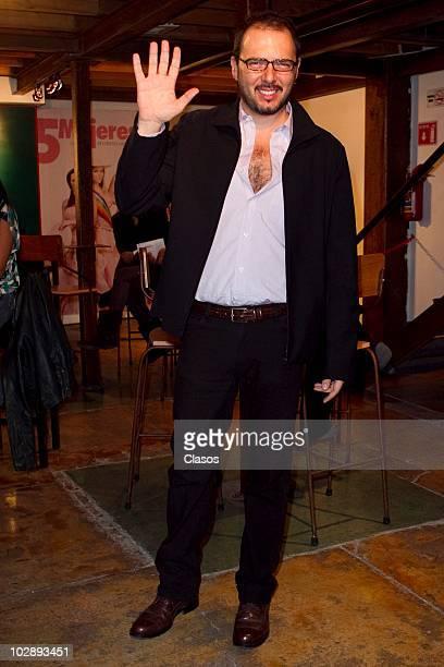 Rodrigo Abed poses for a photograph at the red carpet of Cinco Mujeres Usando el Mismo Vestido at Telon de Asfalto Theater on July 13 2010 in Mexico...