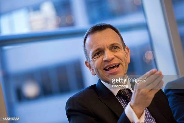 Rodrigo Abreu chief executive officer of Tim Participacoes SA speaks during an interview in New York US on Tuesday Sept 15 2015 The company is is...