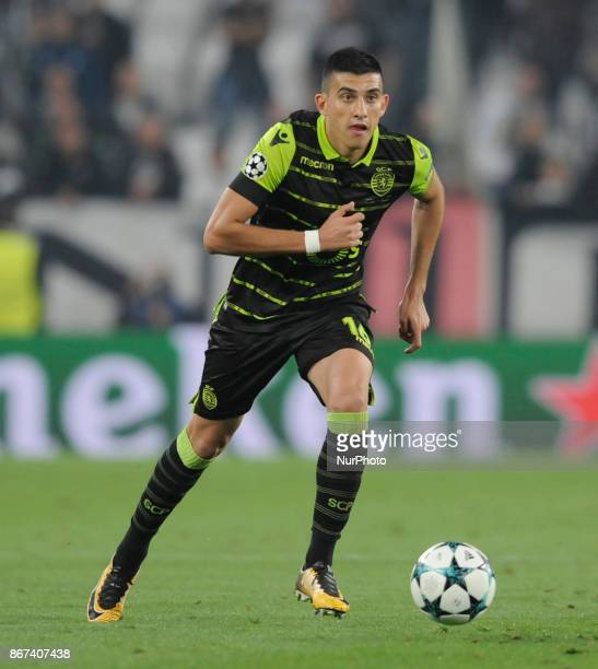Rodrigo Battaglia of Sporting CP player during the match valid for the Uefa Champions League 20172018 between FC Juventus and Sporting Clube de...