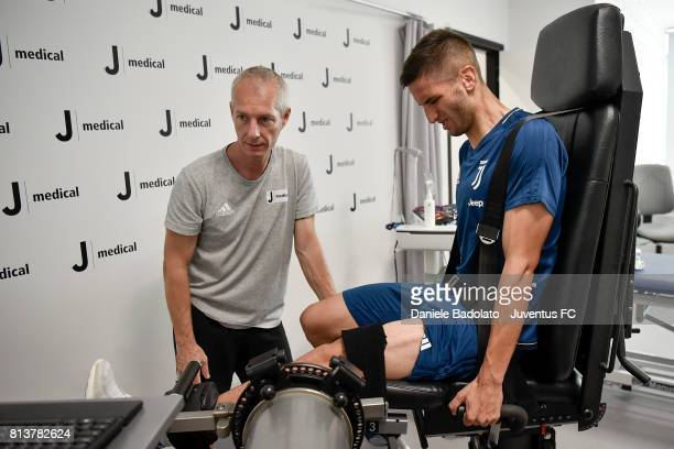 Rodrigo Bentancur attends Juventus medical tests on July 13 2017 in Torino Italy