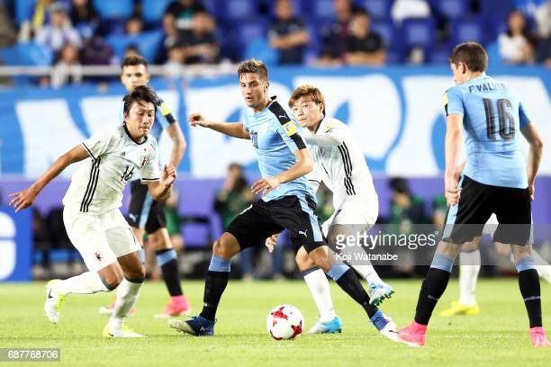 Rodrigo Bentancur C #20 of Uruguay in action during the FIFA U20 World Cup Korea Republic 2017 group D match between Uruguay and Japan at Suwon World...